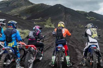 bali dirt bike kintamani black lava volcano